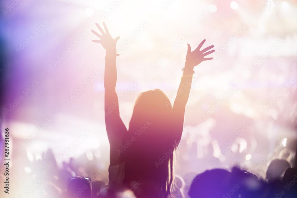 Leinwandbild Motiv - nd3000 : Cheering crowd at concert enjoying music performance