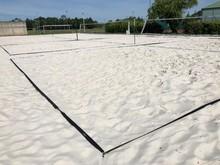 Terrain De Tennis Sur Sable