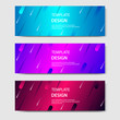 Vibrant gradient and futuristic background template for headline and header banner. Suitable for social media, web, blog, website.