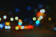 Night lights, bright spots on dark background,blur