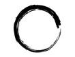 Grunge circle made of black paint.Grunge big circle.Grunge oval shape.Handmade grunge element.