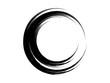 Grunge circle made of black ink.Grunge circle made of black paint.Grunge oval element.