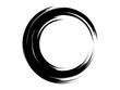 Grunge circle.Grunge oval shape.Grunge logo design.