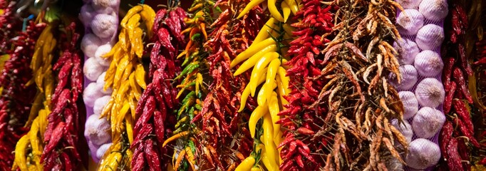 Red and yellow paprika and other spices