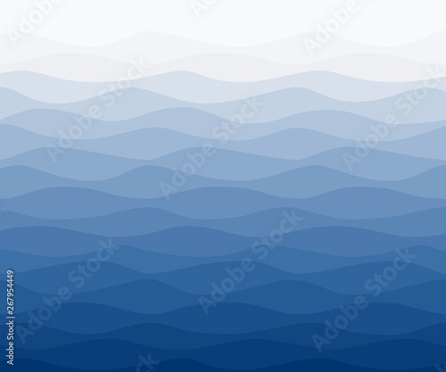 Valokuva  Sea water wavy blue nautical background