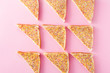 Leinwanddruck Bild - Traditional Australian fairy bread pattern on pink background
