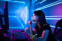 Cyber Sport Gamer Win Game