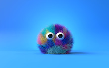 3d Cute Furry Monster,3d Cartoon Character