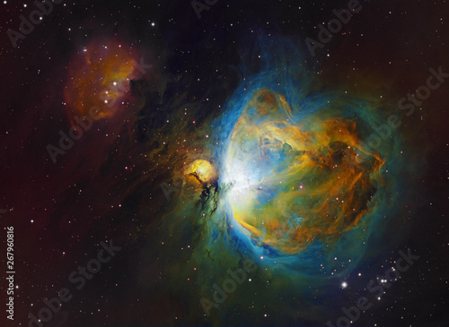 Fotografie, Tablou  Deep space objects Orion (M42) and Running Man Nebula in the constellation Orion