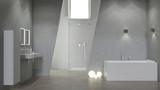 Modernes Design Bad mit Beleuchtung - 267964859