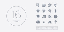16 Vector Icons Set Such As Ca...