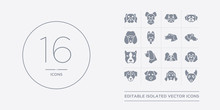 16 Vector Icons Set Such As Mu...