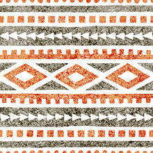Seamless Ethnic Pattern. Geome...
