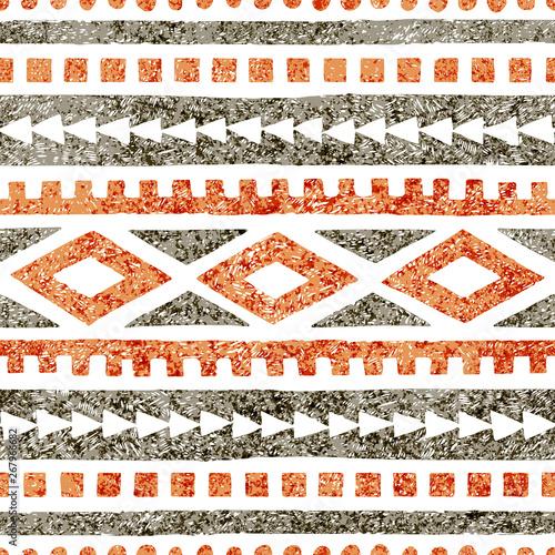 Seamless ethnic pattern Wallpaper Mural