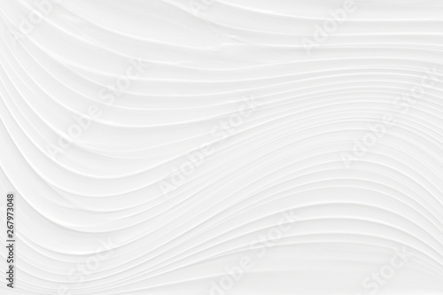 Fotografiet  White background 3 d with elements of waves in a fantastic abstract design, the texture of the lines in a modern style for wallpaper