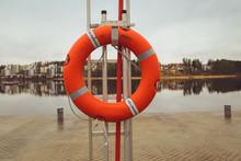 The Lifebuoy Ring At River Tha...