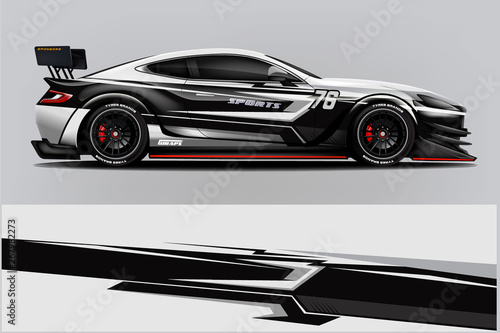 Fototapeta Sport Car wrap design vector, truck and cargo van decal