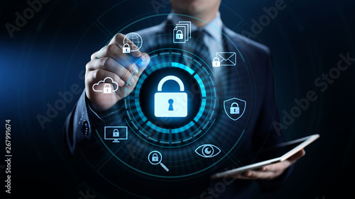 Fotomural  Cyber security data protection information privacy internet technology concept