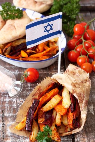 Fototapety, obrazy: Chips with chicken schnitzel