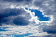 The sky with dark and light clouds background