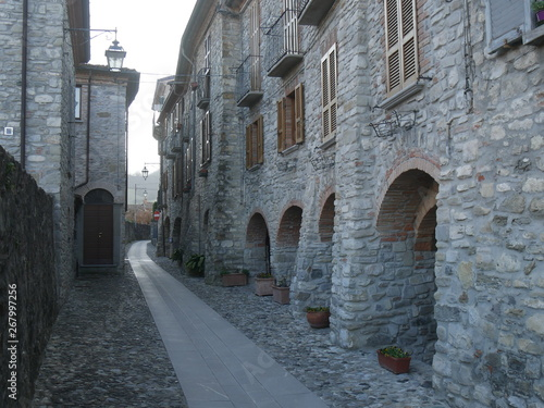 Typical street in Bobbio Wallpaper Mural