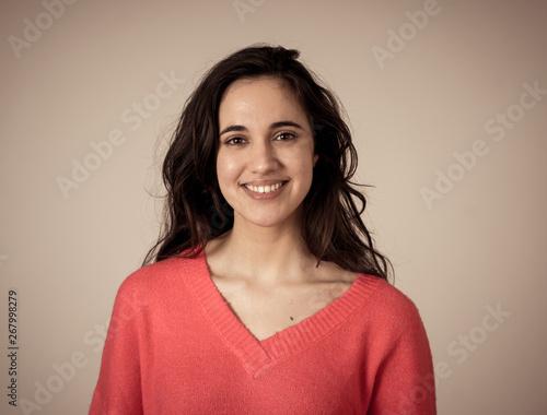 Photo  Young attractive latin woman posing looking sensual and beautiful