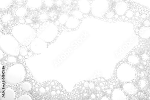 Canvas-taulu Soft white soap foam as background, closeup