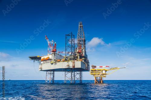 Fototapeta offshore oil rig drilling platform obraz
