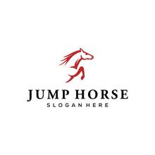 Jump Horse Vector Logo Design