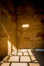 Man Inside A Sentry Box In The Temple Of Edfu..Egypt April 2019