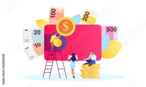 Fototapeta Concept save time, Money saving. Times is money. Business and management, time is money obraz