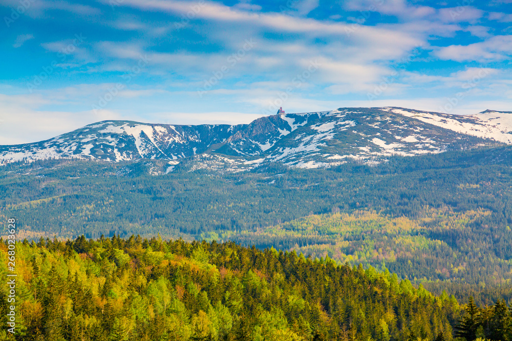 Fototapety, obrazy: Scenic spring landscape of Giant Mountains - Karkonosze Mounatains, Poland