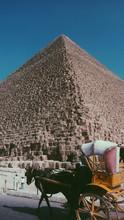 Pyramid Of Giza Under Blue Sky