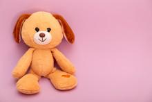 Plushie Doll Isolated On Purple Background