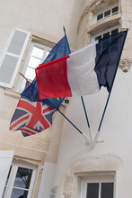 UK United Kingdom European Union Eu And French Flags Brexit