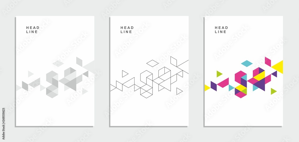 Fototapety, obrazy: Abstract geometric technological flyer, brochure, corporate identity.