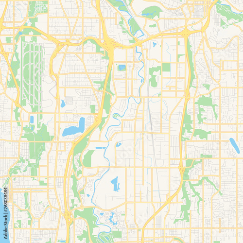 Empty vector map of Raleigh, North Carolina, USA - Buy this ...