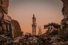 Destroyed Buildings Next To A ...