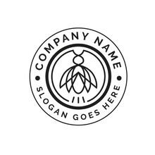 Insect Cicada Pest Emblem Badge Logo Design