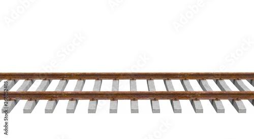 Cuadros en Lienzo Train Tracks isolated 3D Rendering