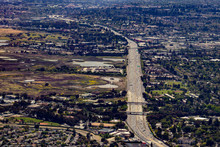 Aerial View Of The 101 Freeway...