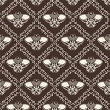 Ornamental Skull Seamless Patt...