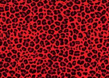 Red Leopard Skin Pattern Design. Leopard Print Vector Illustration Background. Wildlife Fur Skin Design Illustration For Print, Web, Home Decor, Fashion, Surface, Graphic Design