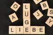 canvas print picture - Worte Lüge und Liebe