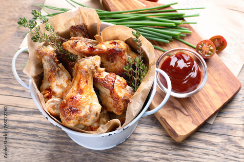 Tuinposter Londen Fried Chicken Wings