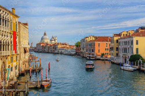 fototapeta na ścianę View of Grand Canal from Bridge Ponte dell'Accademia. Venice. Italy