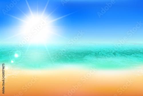 Foto op Plexiglas Hoogte schaal 海 夏 風景 背景