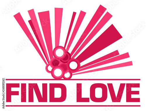 Poster Individuel Find Love Pink Graphical Element Text