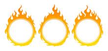 Round Fire Frame. Design Element