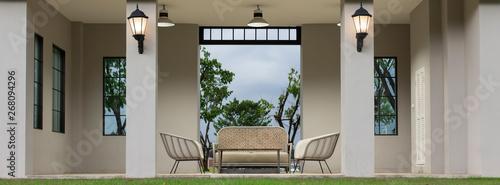 Modern Sofa and furniture.(Panorama picture) Fototapeta